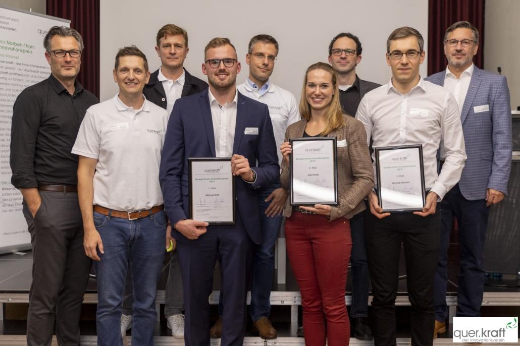 Priesträger, Jurymitglieder und Sponsoren des norbert-Thom-Innovationspreises 2019