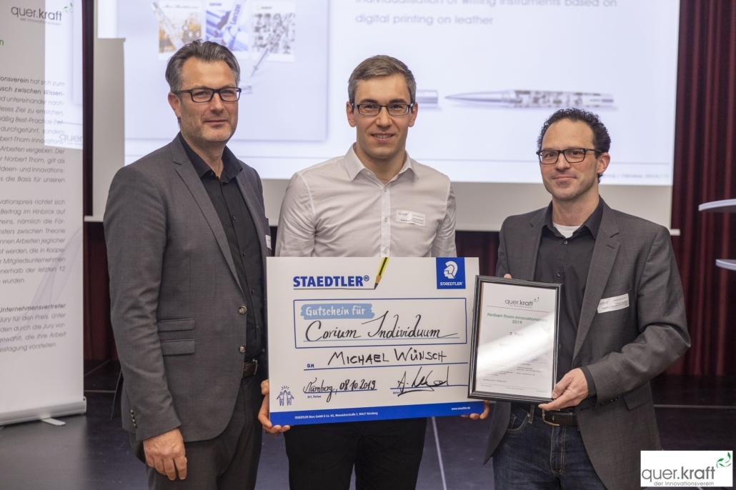 Michael Wünsch erreicht den 3. Platz des Norbert-Thom-Innovationspreises 2019