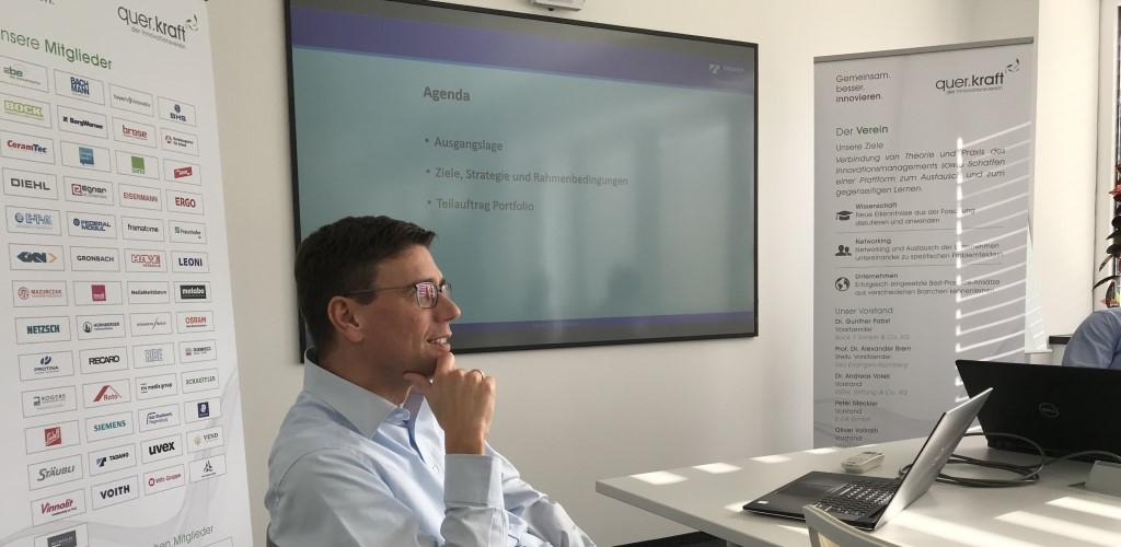 Vortrag von Andreas Hofmann zum Produktportfolio-Management bei Tadano