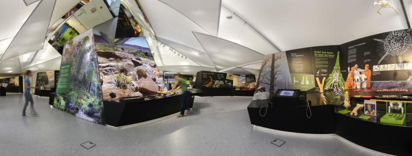 Panoramblick in die Räumlichkeiten des Bionicum am Nürnberger Tiergarten