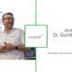 Vortragender Dr. GUnther Pabst auf der Bühne, quer.kraft Logo
