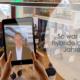 Eppeleinsaal an der quer.kraft Jahrestagung 2020; Publikum mit Abstand verteilt, Übertragungsbild auch online
