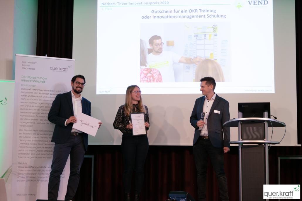 Presdiverleiehung Norbert-Thom-Innovationspreis 2020