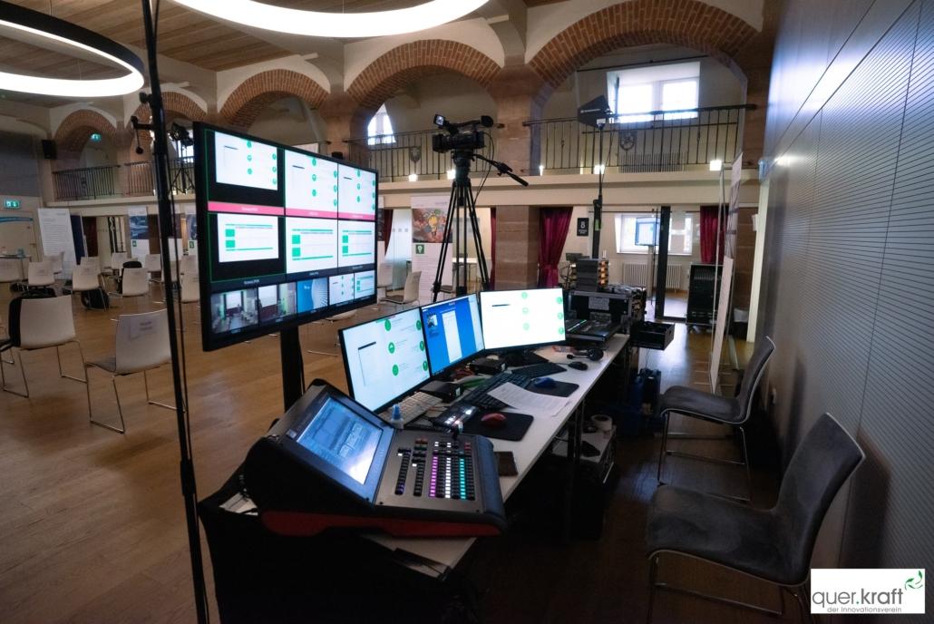 Technisches Equipemtn für die Online Übertragung an der quer.kraft Jahrestagung 2020