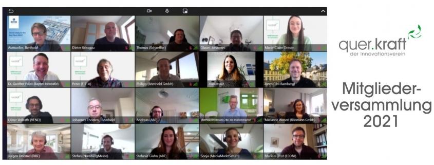 Teilnehmer der quer.kraft Mitgliederversammlung im Online Meeting
